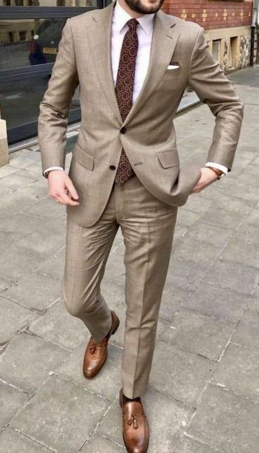 Men Suits White 2 Piece Slim Fit Formal Fashion Wedding Suit Etsy In 2021