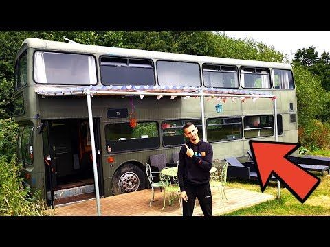 This Is The Story Of A Double Decker Bus Converted Into A 3 Bedroom Home Via The Family Freedom Youtube Channel We Re Taking Y In 2020 Bus House Double Decker Bus Bus