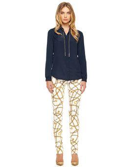 T5SRL MICHAEL Michael Kors  Printed Slim Pants