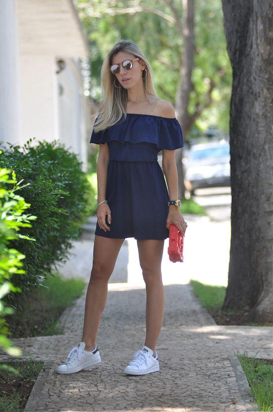 look-vestido-com-tenis: