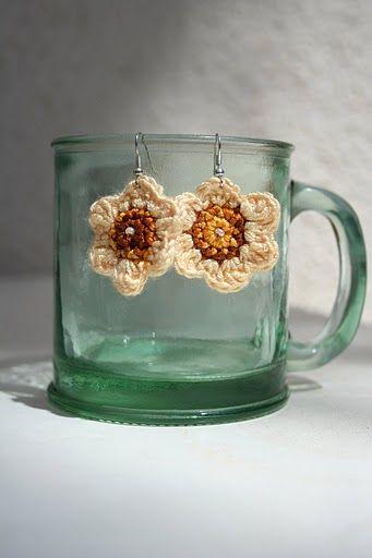 My crocheted earrings