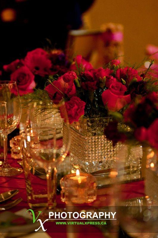 Rhinestone bands around glass cube vases: S R Wedding, Coley S Wedding, Cube Vases, Rhinestone Bands, Photo, My Wedding, Red Wedding