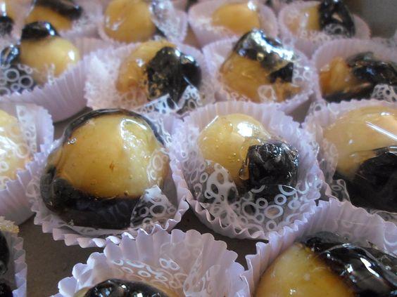 Doces caramelados - Olho-de-sogra