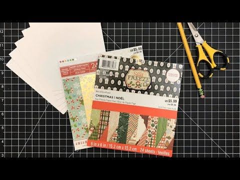 Card Tutorial Simple Card Design Using Pattern Paper Only Simplicity Series Ep 1 Youtube Simple Card Designs Simple Cards Card Making Tutorials