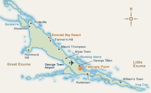 Exuma Bahamas Map Of Dupuch Realty: Map Of Little Exuma Bahamas At Usa Maps