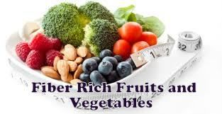 """Most fruits and vegetables are high in fiber. Dietary fiber has complex carbohydrates from plats that humans lack the enzymes to digest. Fiber passes through the body undigested, keeping your digestive system clean and healthy, easing bowel movements, and flushing cholesterol and harmful carcinogens out of the body. There is no fiber in meat, dairy, or sugar. Refined or """"white"""" foods, such as white bread, white rice, and pastries, have had all or most of their fiber removed."""