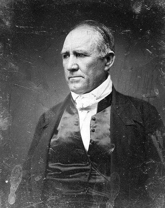 Sam Houston, photo illustrates the Hero of San Jacinto, the Father of the Republic of Texas, President of Texas, 1836-1838, 1841-1844, Democratic Senator from Texas, 1846-1859.