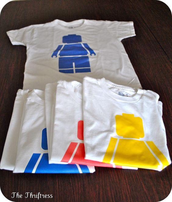 Lego T Shirt Using Printable Heat Transfers This Is My