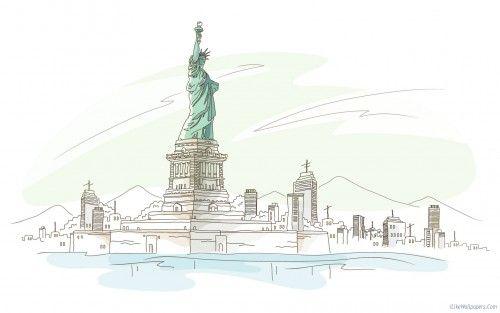New York - Art Pencil Drawing Wallpapers 2015 Jan 40