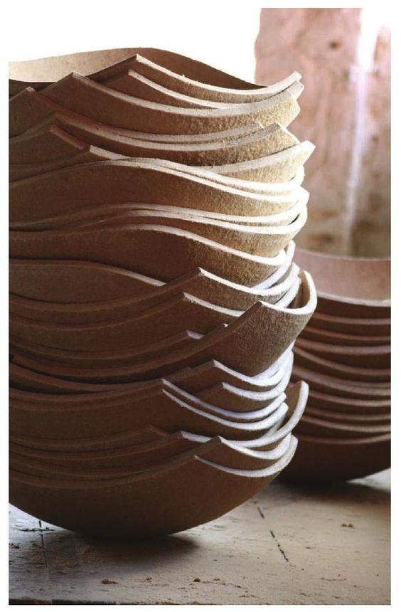 Domingos Totora Paper Bowls Cardboard Design Ceramics Projects
