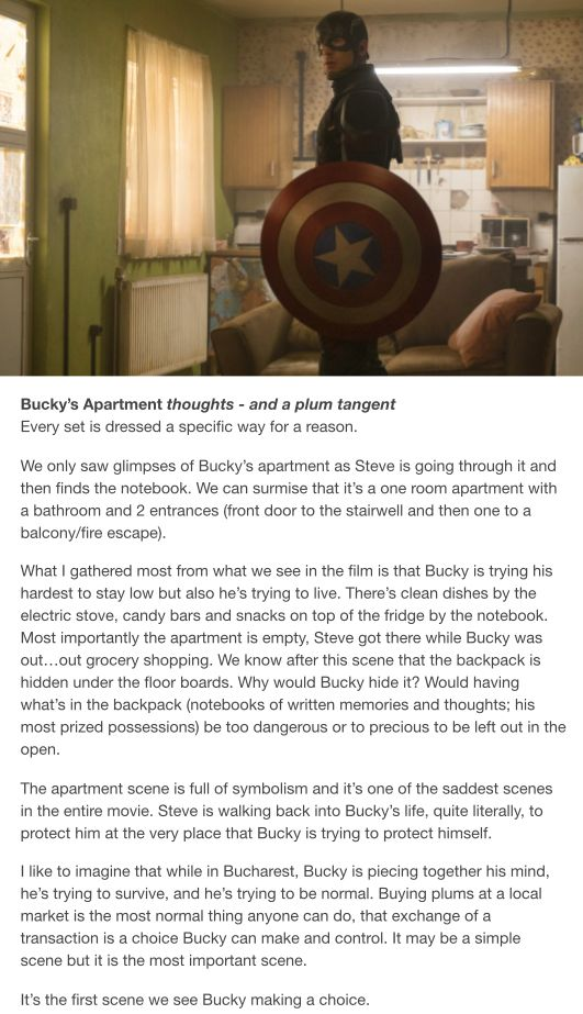 I also made a choice after reading this... THE CHOICE TO SHED MORE TEARS OVER BUCKY BARNES