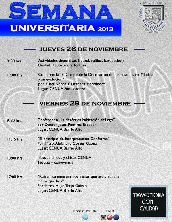 Semana universitaria 2013 eventos deportivos y académicos #CENUA