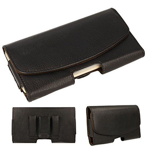 """TECHGEAR® [CAPSULE Holster Pouch] Horizontal PU Leather Pouch Case Cover with Belt Clip Loop to Fit Apple iPhone 6s plus and iPhone 6 Plus (5.5"""")"""