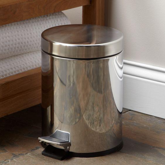 Stainless Steel Step Waste Basket - Bathroom