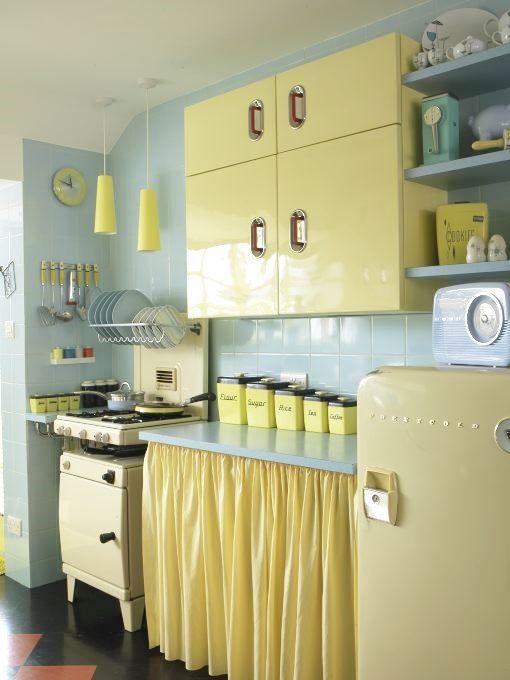 Retro Kitchen Yellow Pinterest And Kitchens