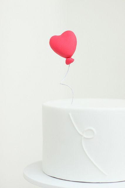 Cute topper #heart #balloon #caketopper #topper #cake