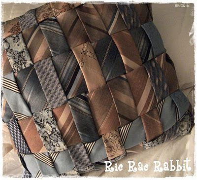 Ric Rac Rabbit - Tampa Sewing and Craft Parties, Classes and Creations: Upcycled Men's Neck Tie Pillow:
