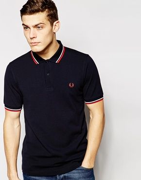 Fred Perry Slim Fit Twin Tipped Polo Shirt http://asos.do/I5oeA8
