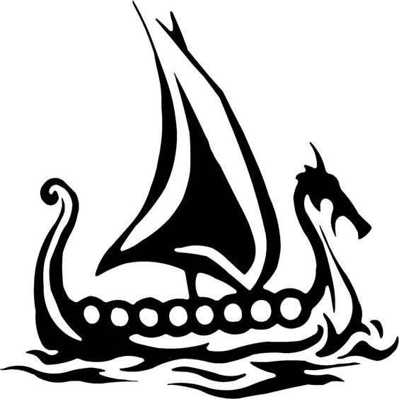 Viking ship drawing possible tattoos pinterest - Dessin de viking ...