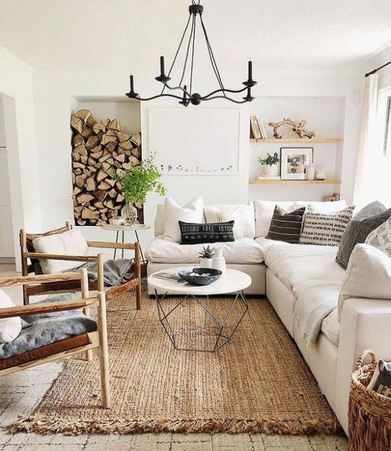 17 Airy And Cozy Rustic Living Room Design Ideas Ruang Keluarga Ruang