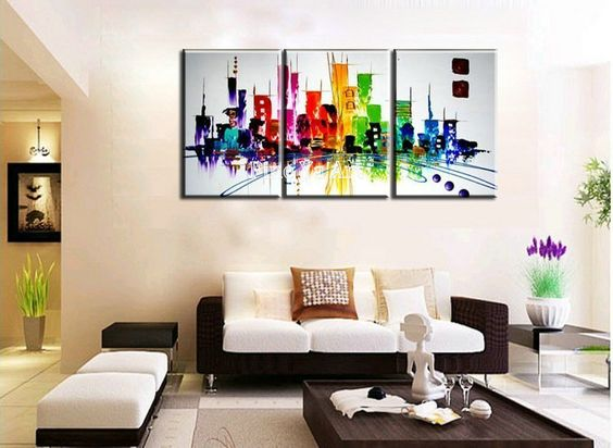 triptyque peinture toile feng shui recherche google formes couleurs et mati res pinterest. Black Bedroom Furniture Sets. Home Design Ideas