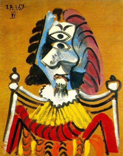 Pablo Picasso, 1969 Homme au fauteuil 3
