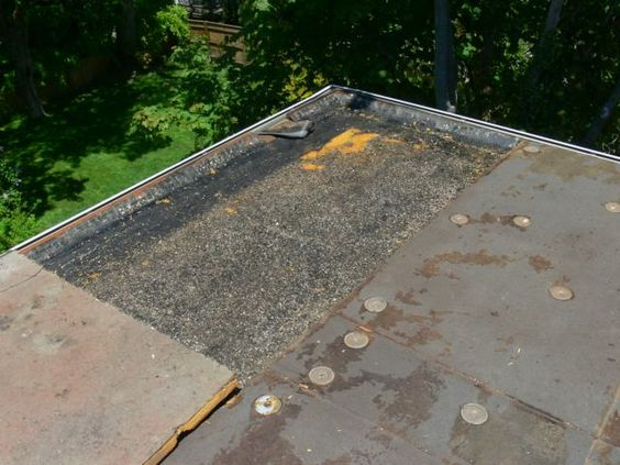 Demolition Of A Flat Roof In Preparation For Roofing With 060 Edpm Rubber Flat Roof Roof Roofing