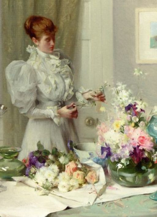 The Flower Arranger ~ Sir William Llewellyn: