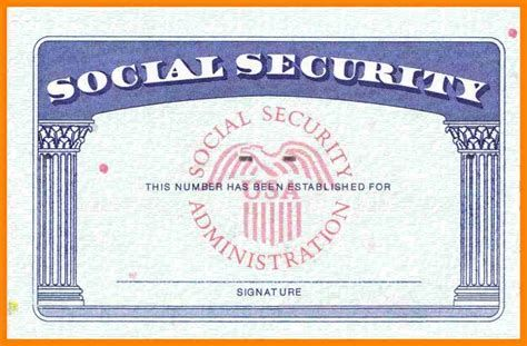 9 Fake Social Security Card Id Card Template Money Template Social Security Card