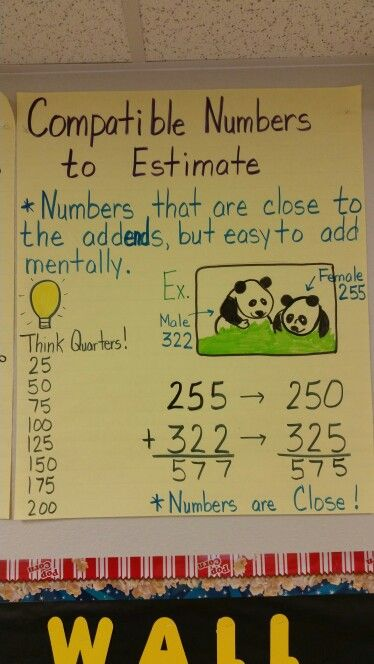 Compatible numbers for estimating sums | teaching ...