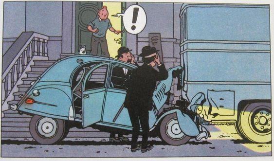 Citroen 2 CV - Tintin