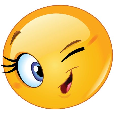 Flirty wink emoji