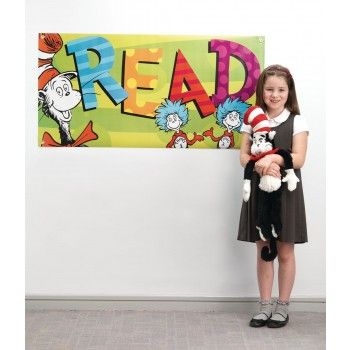 Colourful and fun with a simple message.... READ | Dr. Seuss™ Read Vinyl Banner