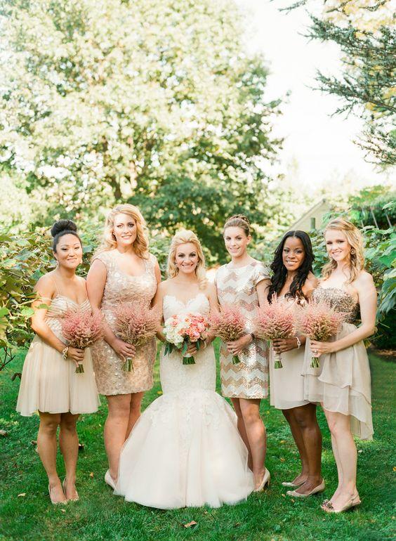 Sparkly bridesmaid dresses!!