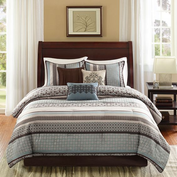 Madison Park Princeton 7 Piece Comforter Set & Reviews | Wayfair