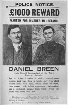 Jan 1919 - IRA volunteers under Dan Breen killed two members of the Royal Irish Constabulary (RIC) when the police refused to surrender a consignment of gelignite they were guarding near Soloheadbeg, County Tipperary.