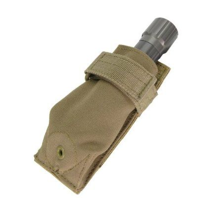 Condor Military MOLLE Flashlight Holder Adjustable Torch Pouch Case Coyote Tan