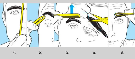 There is really only one rule for your eyebrows: They shouldn't touch in the middle. You are, of course, welcome to do more. In fact, some experts, like groomer of famous people Ramy Gafni, encourage it. Below are five steps he recommends. 1. Lay a comb along one side of your nose, then the other. Your eyebrows should begin just inside wherever the comb crosses them.  2. Clean the bottom line of your brow, removing any stray hairs. But don't pull out too much or you risk giving your brows…