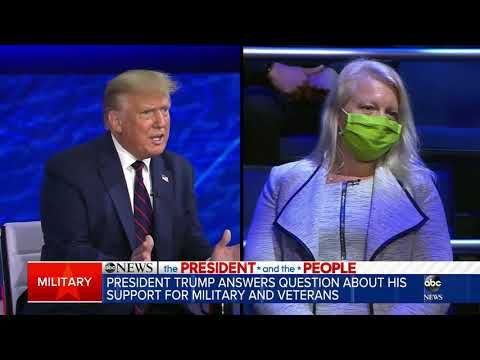 Trump On Abc News Town Hall Comments On Military Were Never Made By Me Youtube In 2020 Abc News News Quotes Funny News