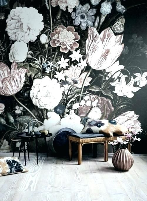 Classical Flower Bird Pattern Magnolia entire room wallpaper wall mural decals