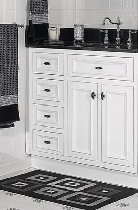 Danbury White Designer Bathroom Vanity Jsi Cabinetry