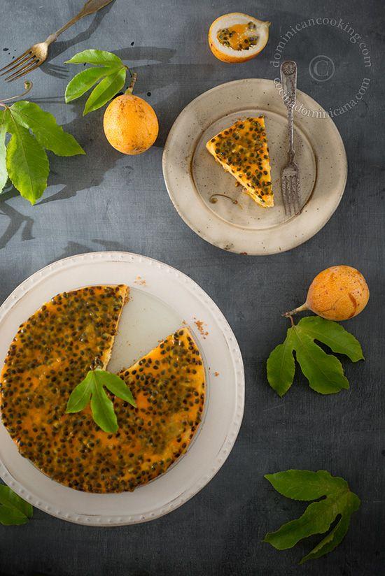Cheesecake de chinola/ Passion fruit cheescake