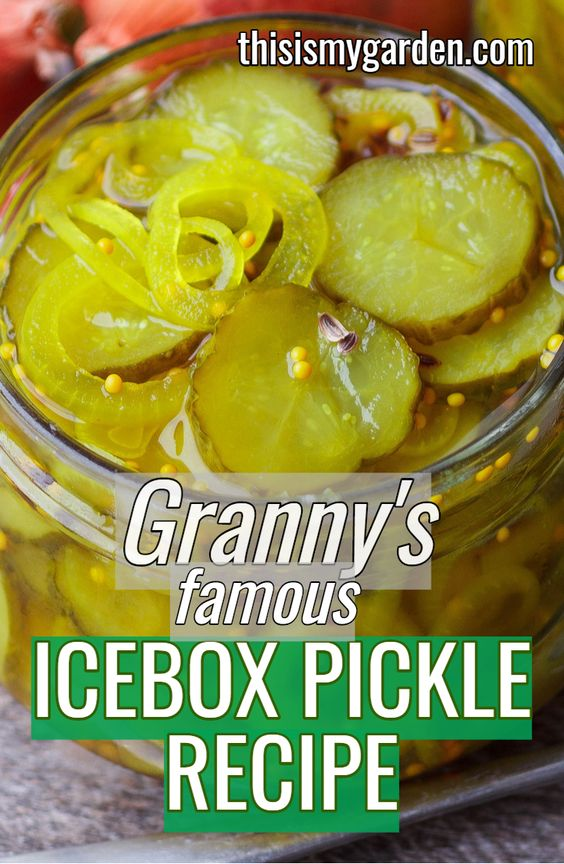Granny's Famous Icebox Pickle Recipe