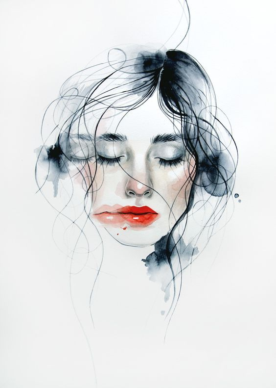 1000drawings Soft By Monica Loya Visage A L Aquarelle