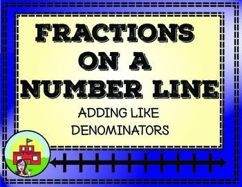 Adding fractions, Number lines and Fractions on Pinterest