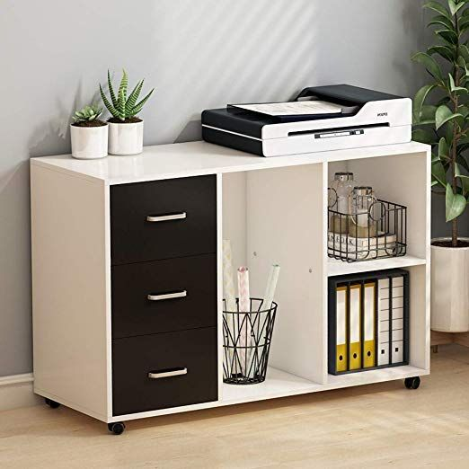 Tribesigns 3 Drawer Wood File Cabinets Large Modern Lateral