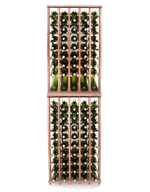 Wineracks Com Premium Series 5 Column Individual Bottle Kit Holds 100 Bottles Of Wine Dimensions 23 1 4 Wide X 78 Column Wine Wine Bottle Rack Bottle Rack