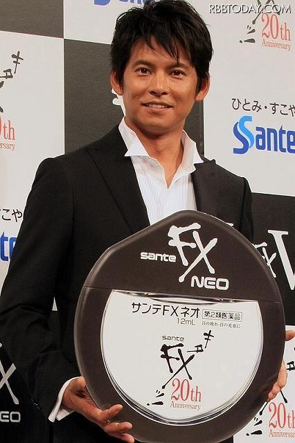 「サンテFX」のCMの時の織田裕二