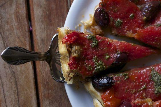 Pikante Tomaten-Tarte-Tatin
