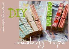 Masking Tape: Schnelles Klammer DIY
